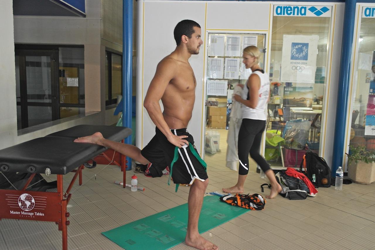 Toujours concentré lors de ses séances d'entraînement. Oussama Font-Romeu. Samsung NX20