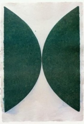 Ellsworth Kelly - Artiste Américaine - (Dark Green Curves), 1976